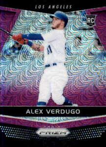2018 Panini Chronicles #13 ALEX VERDUGO Purple Mojo /99 Los Angeles Dodgers