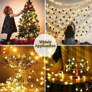 LED Star String Lights Battery Operated Fairy String Light for Home Ramadan  S