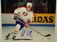John LeClair Signed Montreal Canadiens 8x10 Photo JSA WITNESSED COA