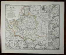 Polish-Lithuanian Commonwealth Poland Partitions Spruner 1877 historical map