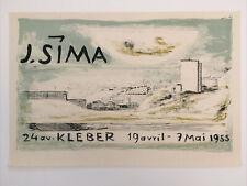 Josef Sima Affiche originale 1955