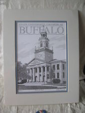 Limited edition ROCKWELL HALL State Univ College@ Buffalo pen& ink signed Smith