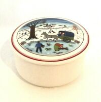 VILLEROY & BOCH NAIF CHRISTMAS PORCELAIN TRINKET BOX WITH LID LUXEMBOURG