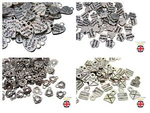 Tibetan Silver Made With Love / Hand Made Charms Silver Colour Pendant Craft ML
