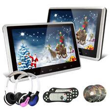 2X 10.1 Zoll DVD Player Digital TFT Auto Kopfstützen 1024*600 HDMI+ IR Kopfhörer