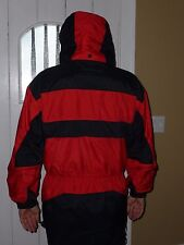 EDELWEISS  SKI WEAR M COAT BLACK RED SNAP COLLAR DRAWSTRING WAIST SHARP!
