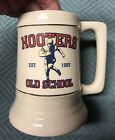 """Hooters Vintage """"Old School"""" Est.1983 Football Ceramic Beer Stein Mug"""