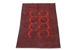 """5X8 Afghan Bukhara Hand-Knotted Area Rug Wool Oriental Carpet (5'2"""" x 7'6"""")"""