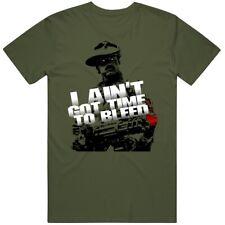 Jesse Ventura Predator Ain't Got Time To Bleed Movie Quote Fan T Shirt