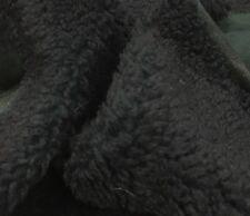 Lambskin Shearling Leather Hair On Hide Pelt Skin Curly Merino Dark Green TT2630