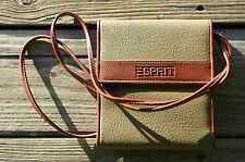 ESPRIT LEATHER TRAVEL WALLET DARK GREEN/BROWN. ORGANIZER, AND PHOTO $20.00