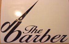 """small 9x5/"""" barbers shop window sign sticker door hair salon wall art decal chair"""