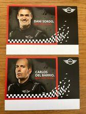 Dani Sordo & Carlos Del Barrio Mini World Rally Team Wrc Official Photocards