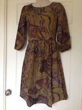 Love Label 3/4 Sleeve Snake Skin Print Dress, Zip back, Size 6