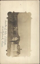 Cuttyhunk Martha's Vineyard MA Houses Center of Village c1910 Postcard RPPC