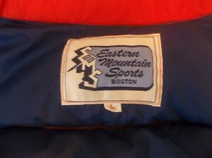 Vintage EMS Eastern Mountain Sports USA Boston Made Goose Down Vest Jacket Red