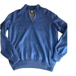 Nwot Footjoy Fj Blue Lambs wool Jumper 1/2 Zip Pullover Golf Wear Outdoor Warm S