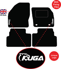 Tailored Car Mats Fits Ford Kuga 2008 to 2012 with Unique Logos 2 OVAL clips