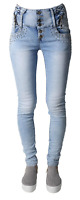 New Ladies Womens High Waisted Skinny stretchy Jeans Jeggings Pants, size 6-14
