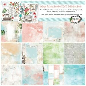 """49 And Market Collection Pack 12""""X12""""-Vintage Artistry Beached"""