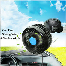 Car Fan 12V Strong Wind Low Noise Summer Adjustable w/ Sucker Air Cooling Fan