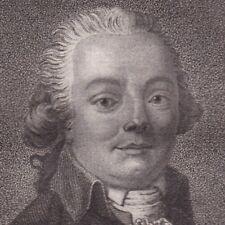 Portrait XVIIIe De La Harpe Jean François Poète Critique Littéraire Révolution