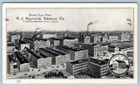 1936 RJ REYNOLD'S TOBACCO CO VISITOR'S PASS*BIRD'S EYE VIEW*WINSTON-SALEM NC USA