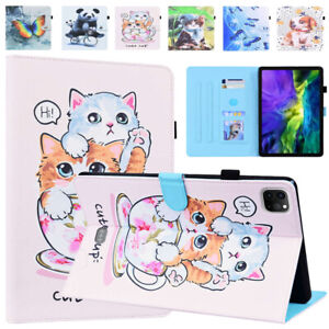 Cute PU Leather Smart Wallet Case Cover for iPad 9.7 10.2 10.5 Pro 11 Air 4 Mini