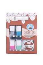 Cherry Chree Nai Polish Set 4 Color w/ 32 Removal Pads Chocolate Cake Mint Blue