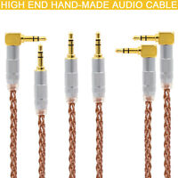 AUX CABLE 8cores 6N OCC Brass 3.5mm to 3.5mm HiFi Audio Headphone Wire DIY Line