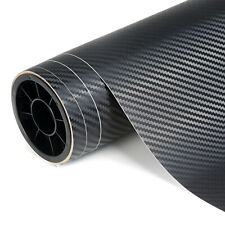 Carbon Fibre Vinyl 3D Black Car Vehicle Wrap Film Bubble Air Free 1520mm x 300mm