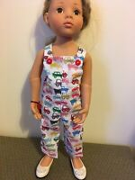 """Dolls Clothes ,Handmade, Cars Dungarees   Fits 18"""" Doll"""