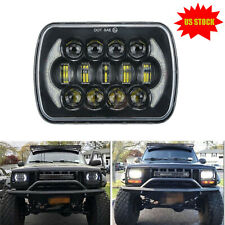 85W CREE 5x7'' 7x6'' Black LED Headlight Halo DRL Bulb For Jeep YJ Cherokee XJ