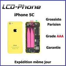 Châssis Complet Coque Arrière iPhone 5C Jaune-Nappe Power+connecteur charge logo
