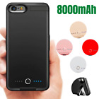 8000mAh Battery Charger Case Power Bank Charging Cover For iPhone 8 7 6s Plus SE