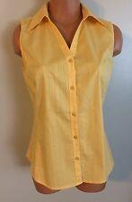 •• Women's Size Small St. John's Bay V Neck Shirt Cotton SS Sleeveless Blouse