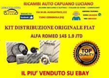 KIT DISTRIBUZIONE ORIGINALE + POMPA ACQUA ALFA 147 1.9 JTD  e JTDM ALFA ROMEO