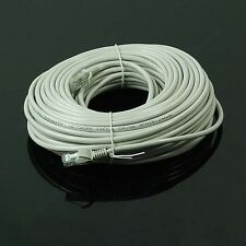 30M 100 FT RJ45 CAT5 CAT5E Ethernet Internet LAN Network Cord Cable Gray New