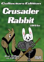 Crusader Rabbit-3 DVD-R Set-Over 10 Hours with DVD Menus