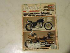 JULY 1985 CYCLE MAGAZINE,SUZUKI ROAD MAGIC 700 INTRUDER,1400 CAVALCADE,HONDA VF1