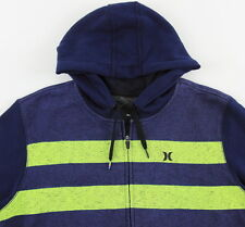 Men's HURLEY Blue Gray Hooded Hoodie Sweater Sweatshirt Extra Large XL NWT NEW