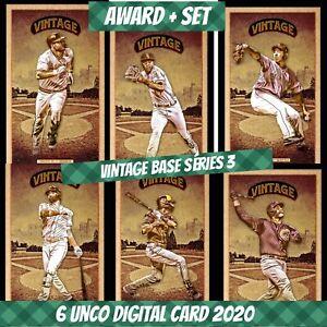 Topps Bunt Digital Tim Anderson Award + Set (1+5) Vintage Base S/3 2020 Digital