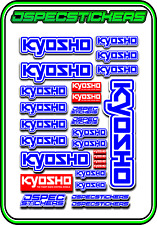 KYOSHO RC RACING STICKER SHEET A5 MINI Z BUGGY CAR NITRO ELEC DRONE BLUE WHITE