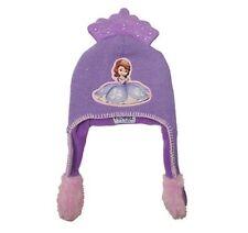 Disney Sofia the First Little Girls Size 4 6 Purple Winter Flipeez Hat NEW
