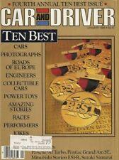 CAR & DRIVER 1986 JAN - RACE SEASON REVIEW, 911 TURBO