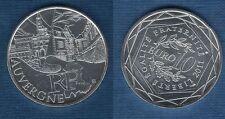 10 Euro Série des Régions 2011 Monuments Argent SUP - Auvergne