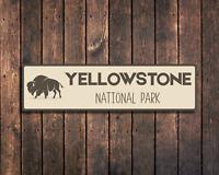 Buffalo Yellowstone Metal Sign Camping Decor Plaque for Trailer RV National Park