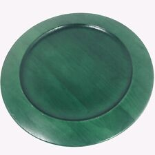 Studio Nova Pine Green Wood Plate Chargers Set Of 4