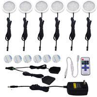 AIBOO Dimmable LED Under Cabinet lighting,Kitchen Light 6x2w 12V LED Puck Lights