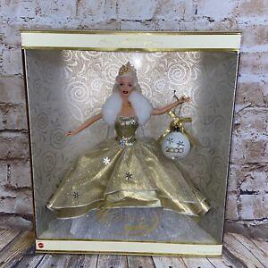 2000 Mattel Special Edition Celebration Barbie Collector Blonde Gold Dress NIB